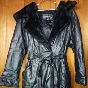 Wilsons The Leather Experts Black Leather Jacket